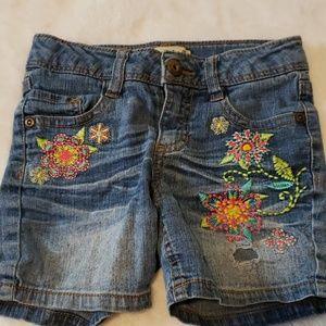 Muddy jean shorts